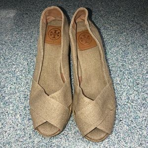 Tory Burch Filipa Espadrille Wedges - Size 9